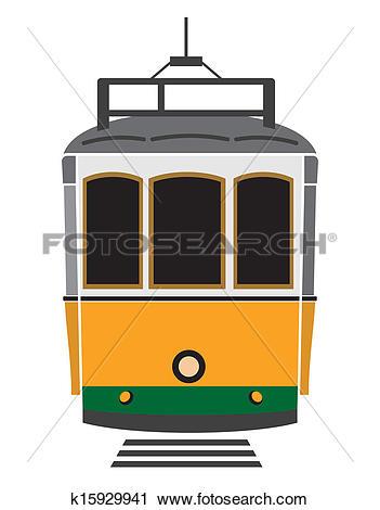Clipart of City transport. Tram. Vector illustration k3459812.