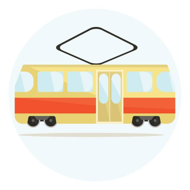 Tram Point Of View Clip Art, Vector Images & Illustrations.