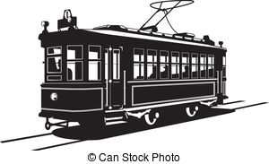 Clipart Vector of tramway.