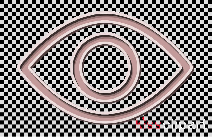 Interface icon Eye icon View icon clipart.