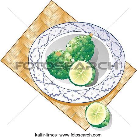 Stock Illustration of Kaffir Limes kaffir.