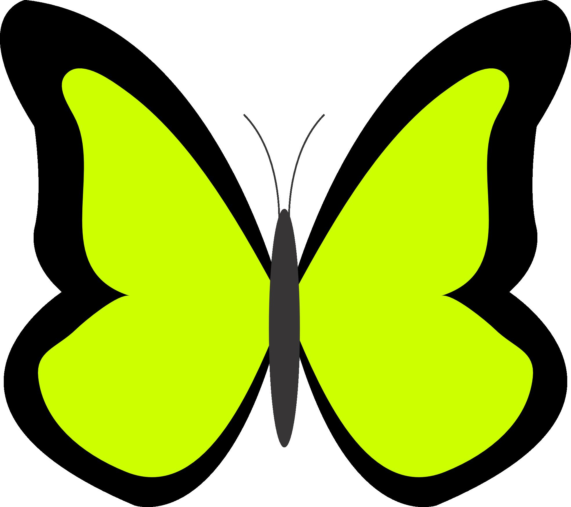 Lime green flower clip art.