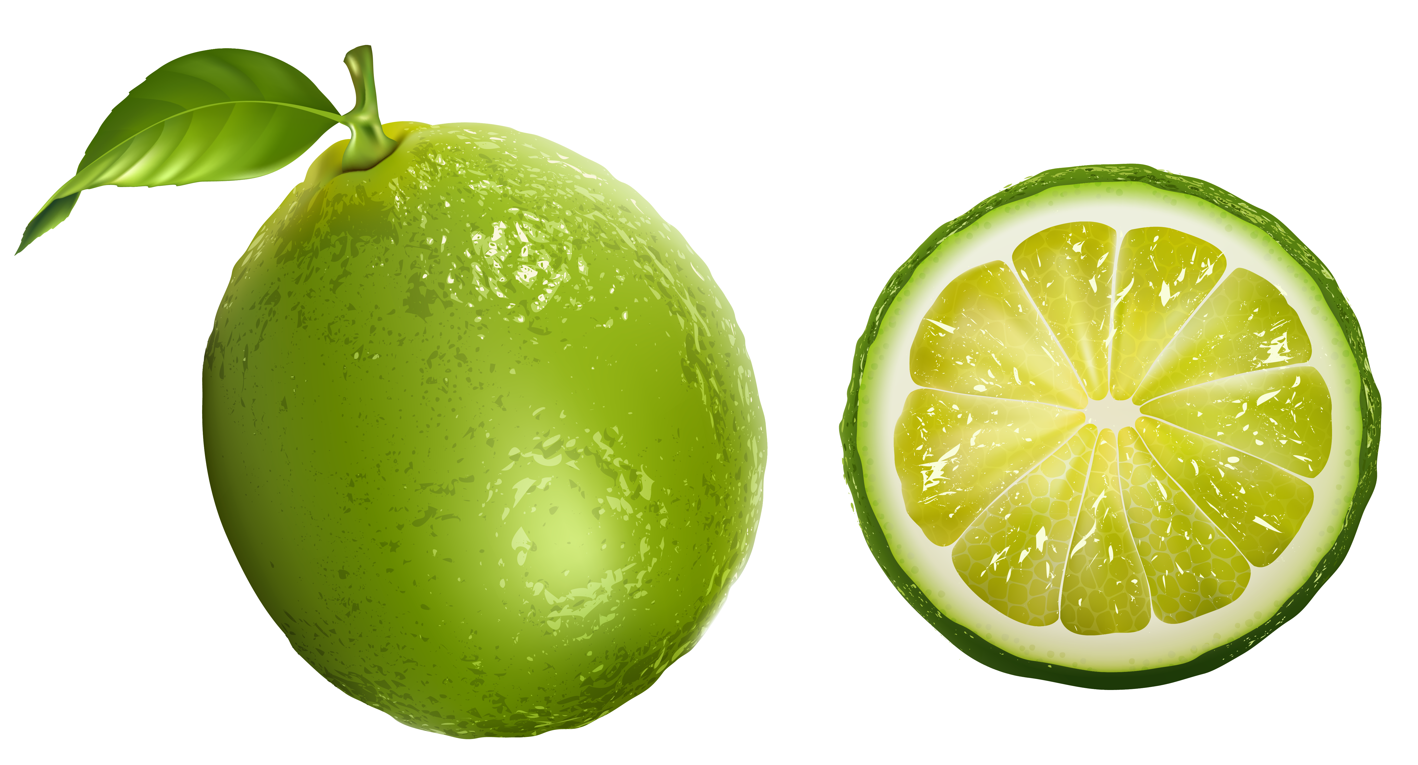 Lime PNG Clipart Picture.