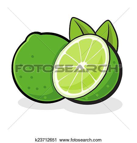 Clipart of Lime Fruit k23712651.