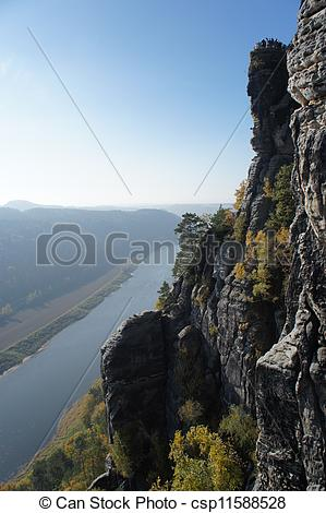 Stock Photo of View on the Elbe downstream.