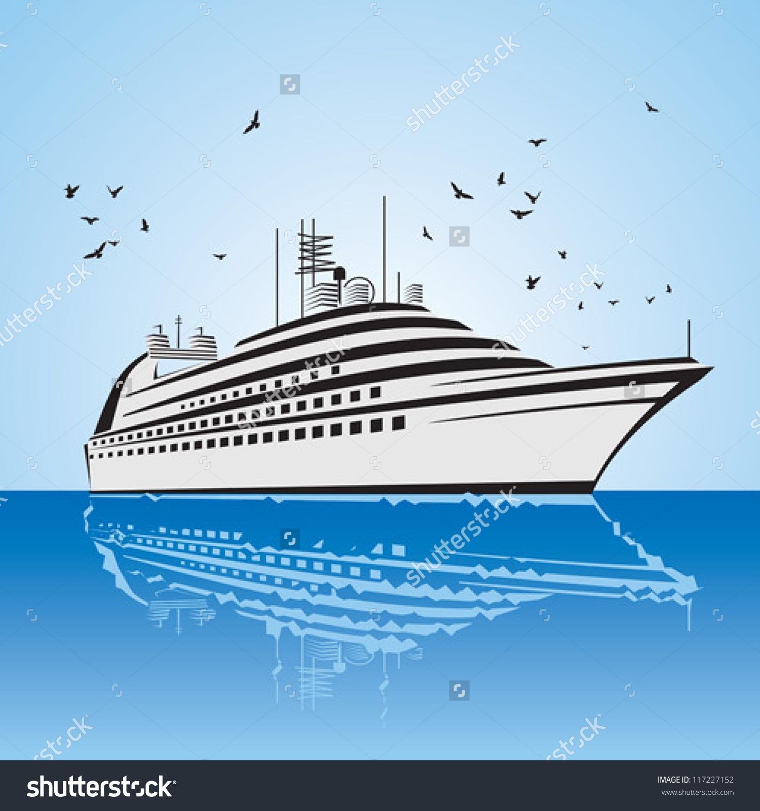 Very Realistic View Cruise Ship Similar Stock Vector 117227152.