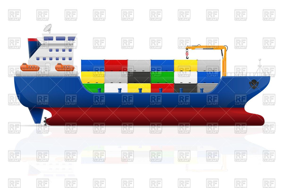 Cargo Ship Clipart.