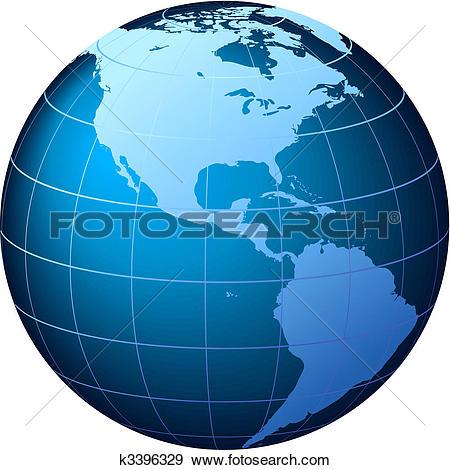 Clip Art of World Globe.