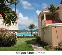 Picture of hotel villa development beach Simpson bay St. Maarten.