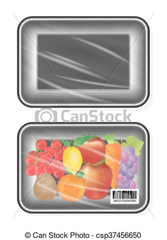 Clipart Vector of top view of polystyrene packaging.