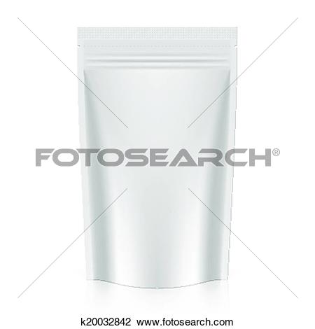 Clipart of Stand up pouch packaging k20032842.