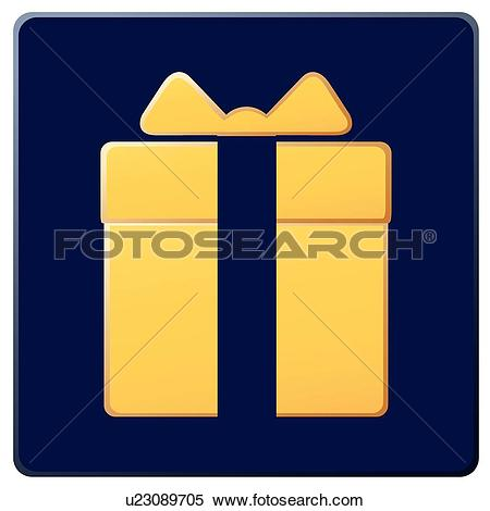 Clipart of Celebration, icons, packaging, wrapping, boxes, Objects.