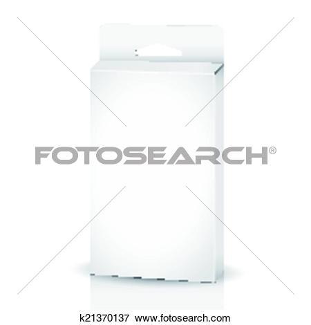 Clip Art of blank paper packaging bag k21370137.