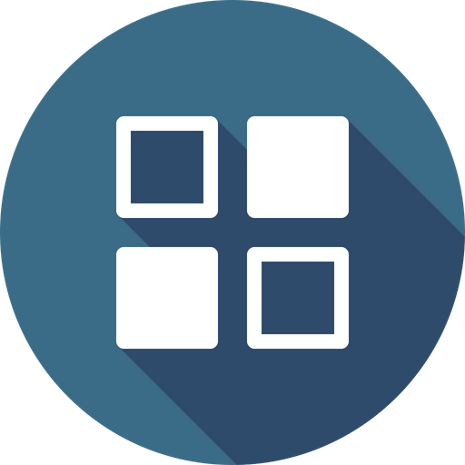 Android, Menu, Grid, App, View, Application, Outline Icon of.