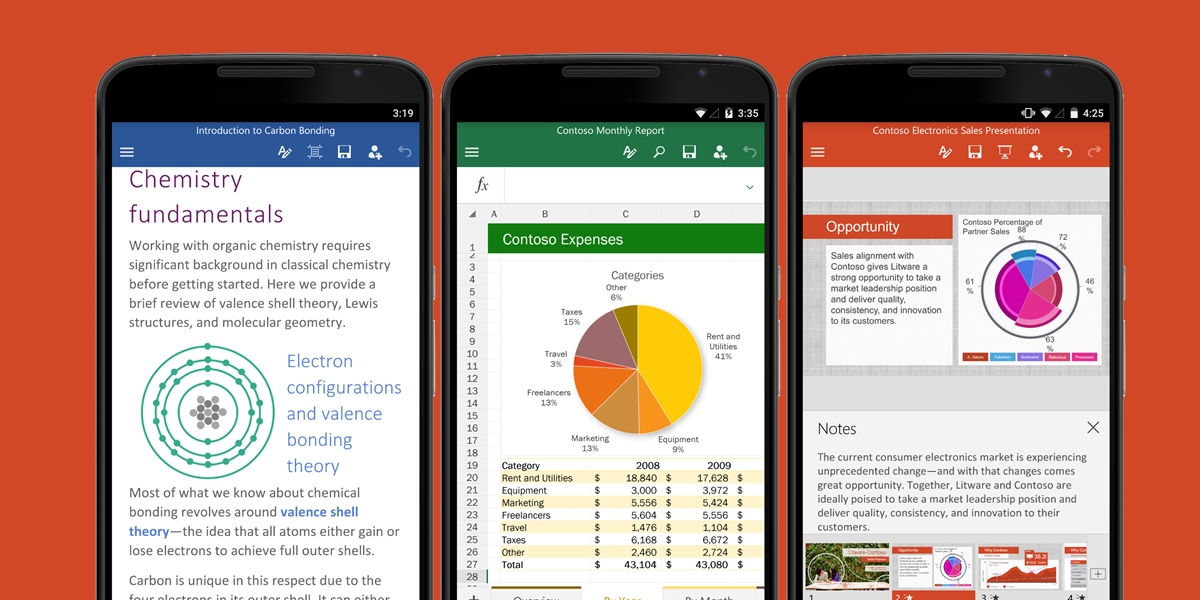 Office on Android updated with the ability to view PDF files.