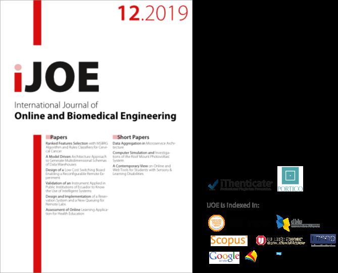 International Journal of Online and Biomedical Engineering.