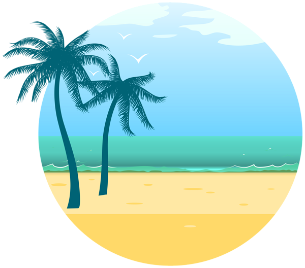 Summer Sea Decoration PNG Clipart Image.