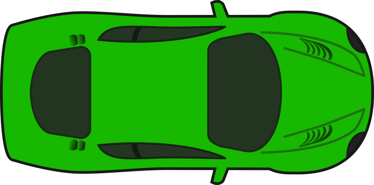 Top View Of A Car Clipart.