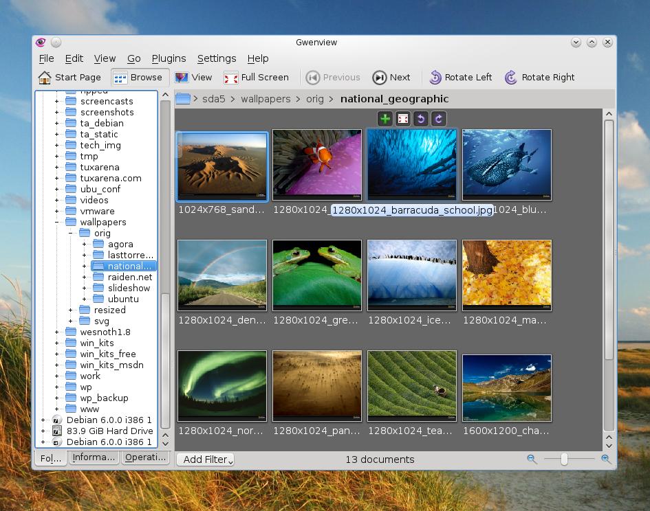 Top 5 Image Viewers for Ubuntu/Kubuntu.