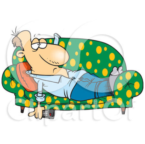 Lazy People Clipart.