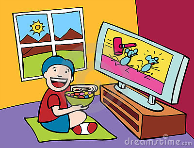 Clip Art Television Viewing.