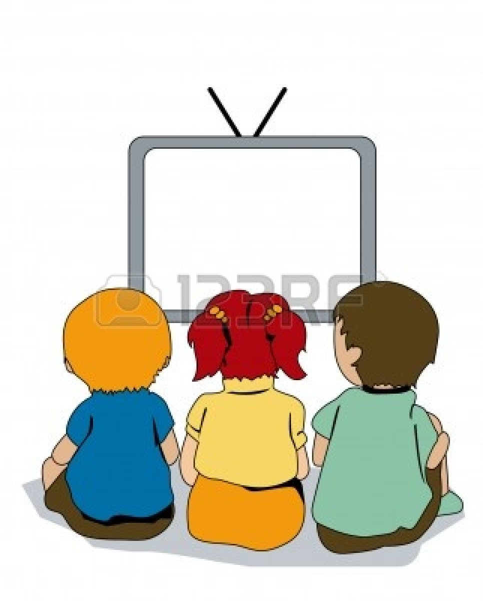 Tv Viewing Clipart.