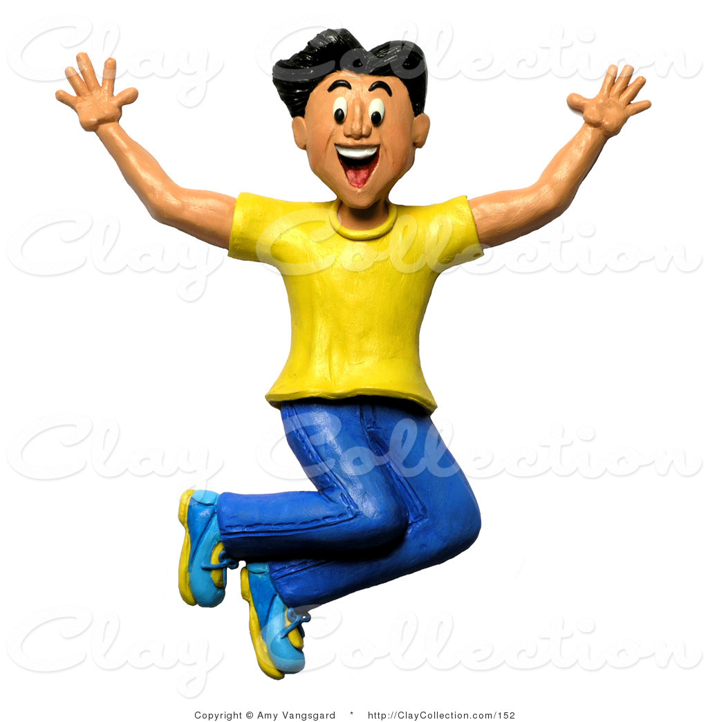 Clip Art Person Excited Clipart.
