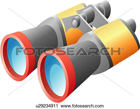 Clipart of view, traveling, viewing, binoculars, telescope, icon.