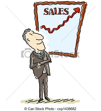 Clip Art of Sales are up.