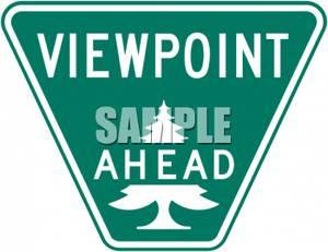 Ahead Road Sign.