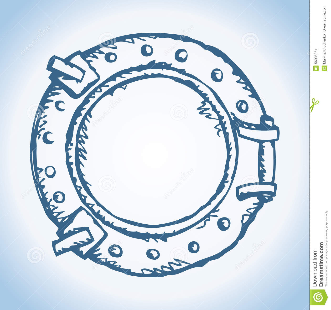 Porthole. Vector Drawing Stock Vector.