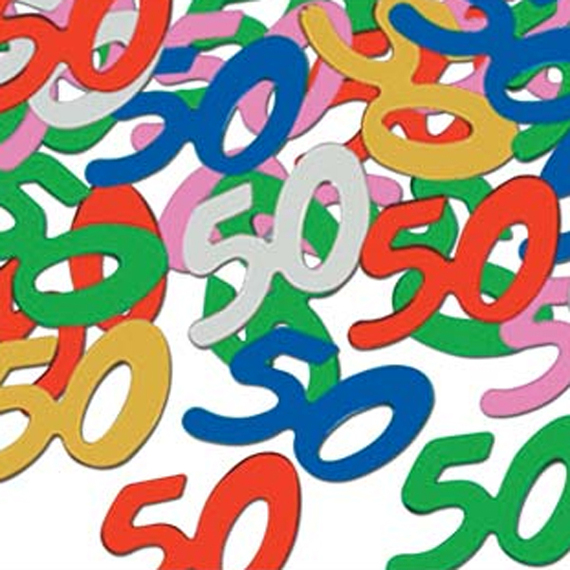 50th Birthday Confetti 1 Package At Direct Clipart.