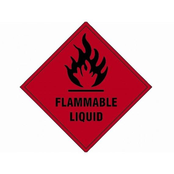 Scan Flammable Liquid SAV 100 X 100mm Power Tools Direct Clipart.