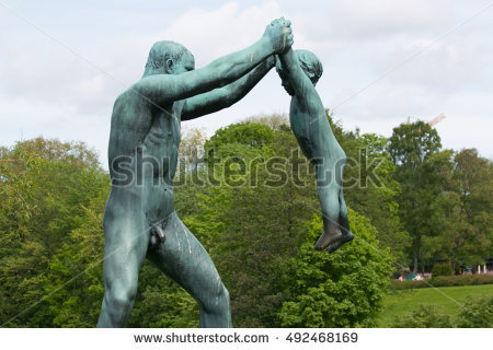 Vigeland Statues Stock Photos, Royalty.