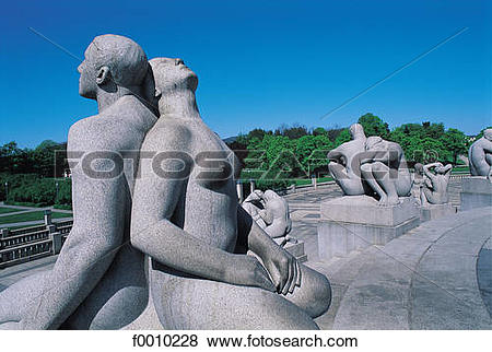 Pictures of Oslo, Vigeland park sculptures f0010228.