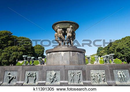 Stock Image of Vigeland park statues holocaust k11391305.