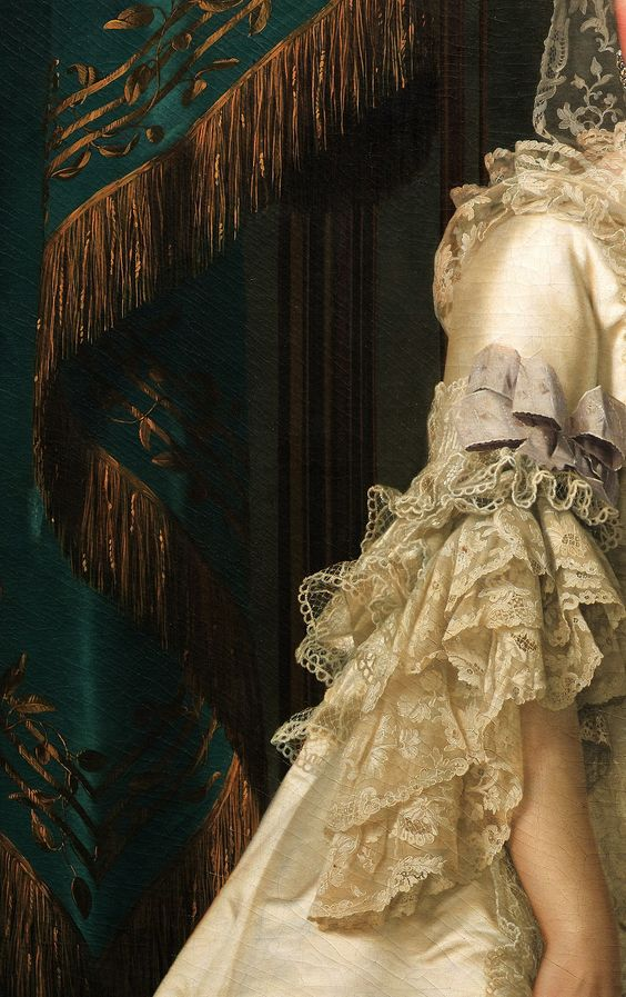 The Queen Dowager Juliane Marie, Vigilius Eriksen, 1776. Detail.