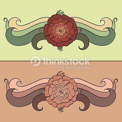 Blumenmuster Vignettierung Vektorgrafik.