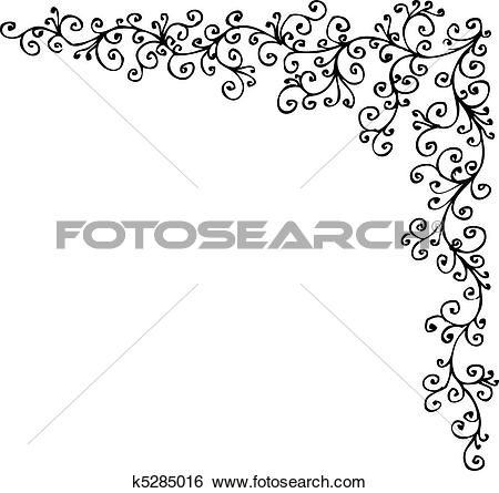 Clip Art of Baroque Frozen vignette CCCXIV k5285016.