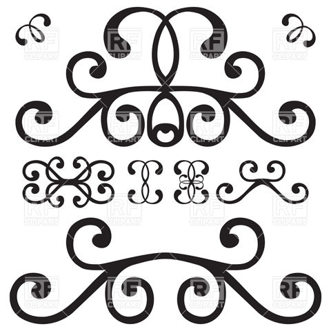 Simple curly vignette Vector Image #9816.