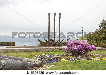 Stock Image of City park in Vigo, Galicia k15393535.