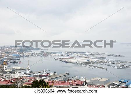 Stock Photo of Port of Vigo, Galicia k15393564.