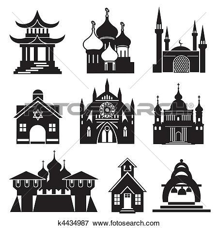 Clip Art of pagoda.