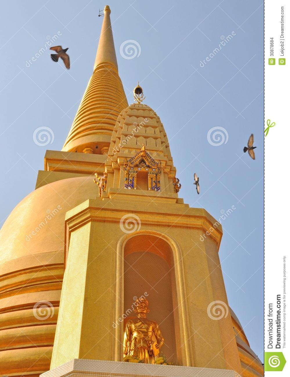 Wat Bowonniwet Vihara Rajavaravihara,Bangkok,Thailand Stock Images.