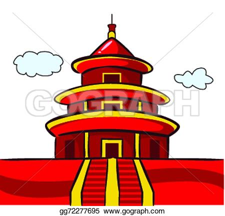 Chinese Temple Clip Art.
