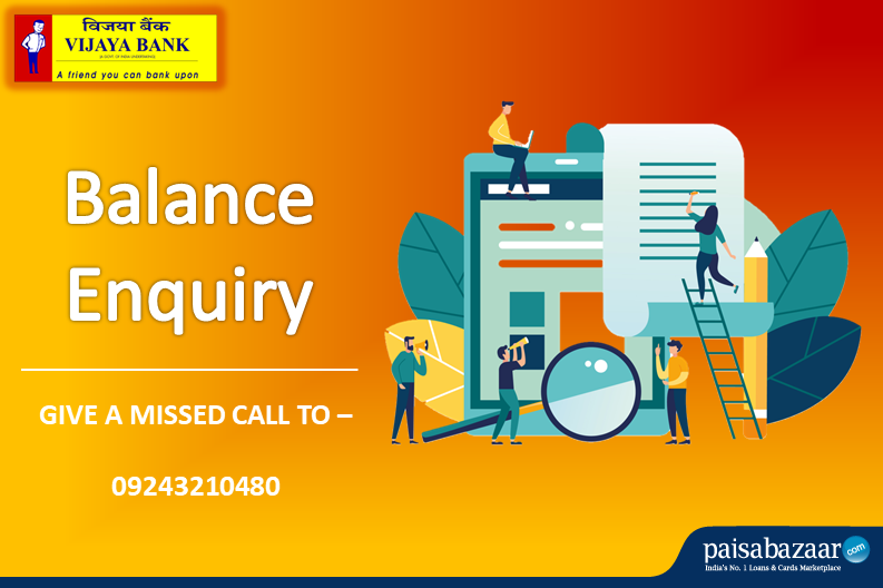 Vijaya Bank Balance Enquiry by Number, Missed Call, SMS, Net.