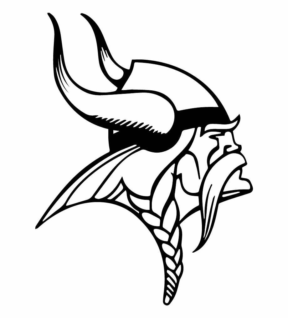 Free Vikings Logo Black And White, Download Free Clip Art.