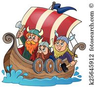 Viking ship Clip Art Royalty Free. 455 viking ship clipart vector.