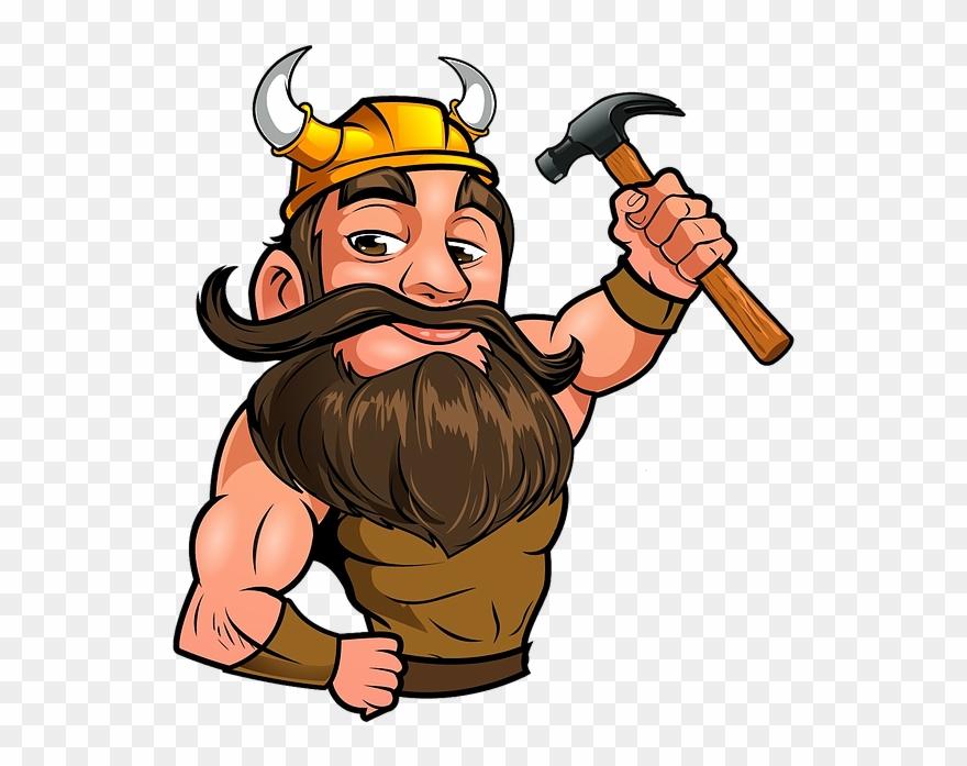 Hd Viking Roofing Mascot.