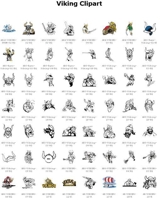 Viking Clipart Symbols.
